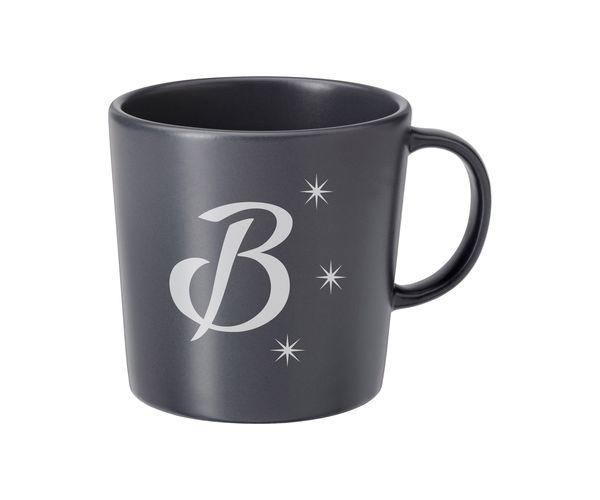 Keramický hrnek šedý s pískováním - B