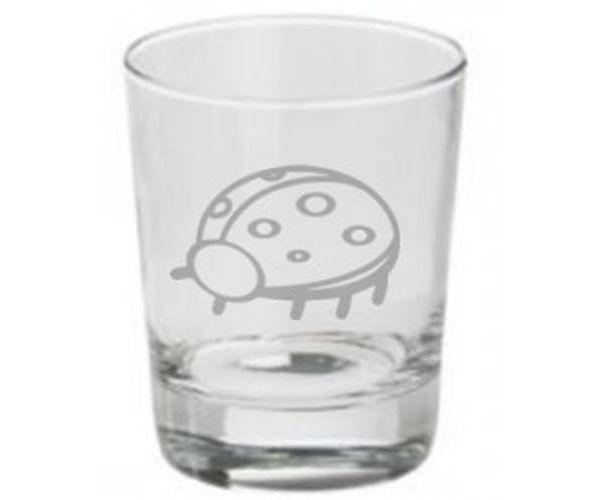 Pískovaná sklenička Beruška