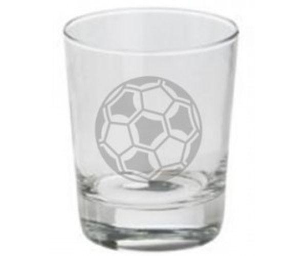Pískovaná sklenička Fotbalový míč