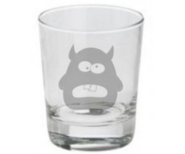 Pískovaná sklenička Monster