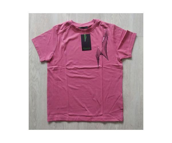FORTOO Chlapecké tričko s krátkým rukávem, růžové,116