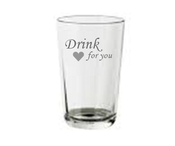 Pískovaná sklenička na studené nápoje Drink