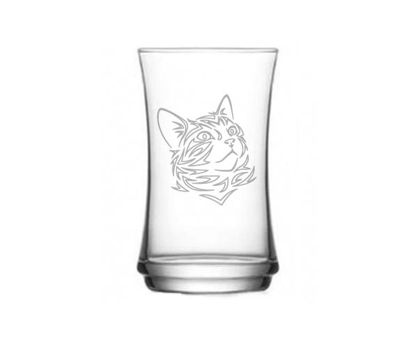 Pískovaná sklenička Kočka 1