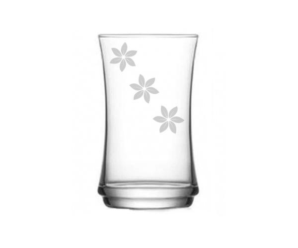 Pískovaná sklenička Květy 3