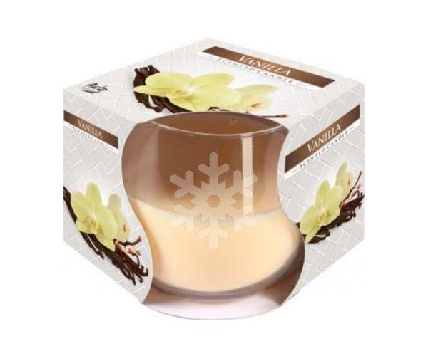 Pískovaná svíčka s vůní vanilky, Vločka