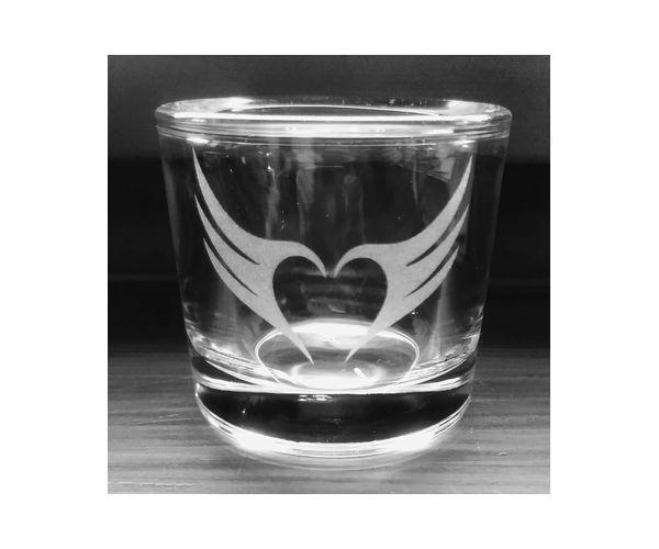 Pískovaný svícen Andělská křídla
