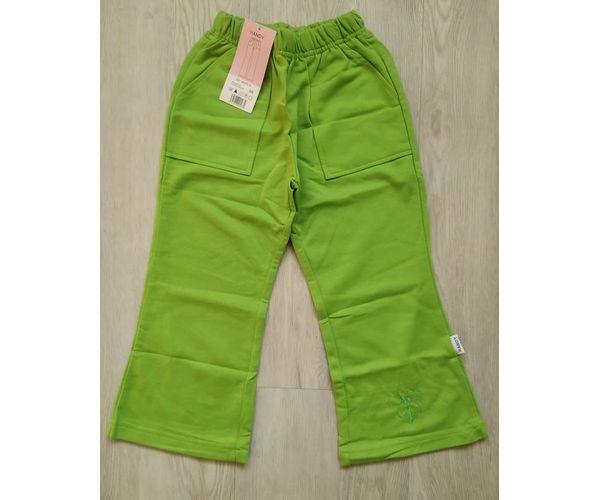 Dívčí tepláky Kytka, zelené, 98