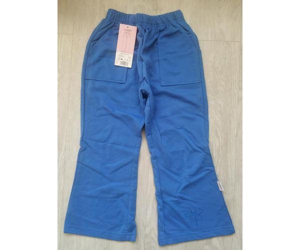 Dívčí tepláky Kytka, modré, 122