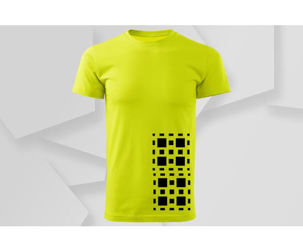 Pánské tričko Čtverce, žlutá
