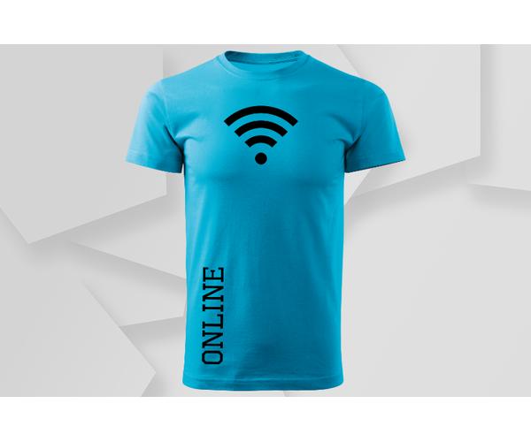 Pánské moderní tričko Online, tyrkys