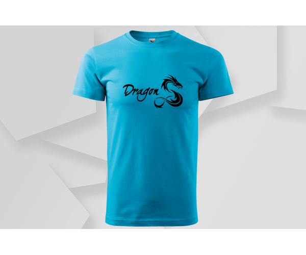 Pánské moderní tričko Dragon, tyrkys
